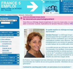 Chômage longue durée et confiance en soi: Itw sur France 5 emploi