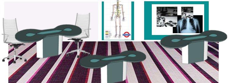 un open space alliant le high tech et la connexion à l'humain biologique et médical