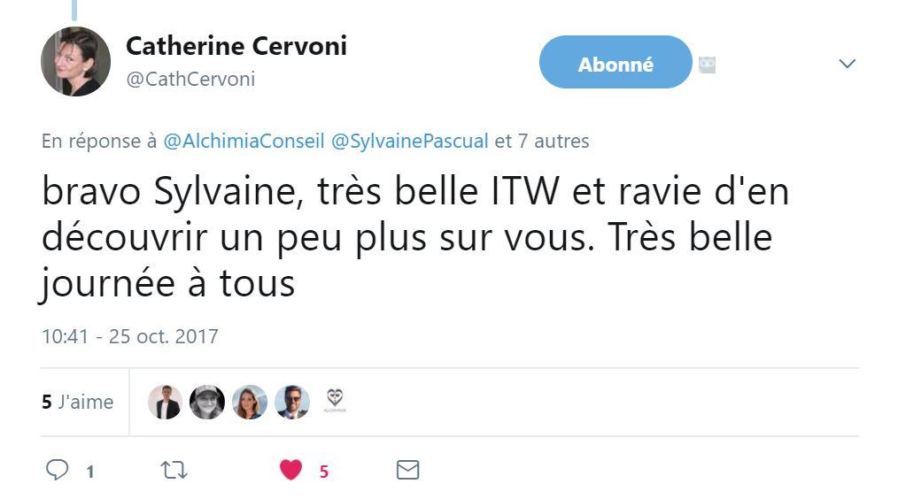 Tweet portrait Sylvaine Pascual
